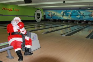 bowling santa